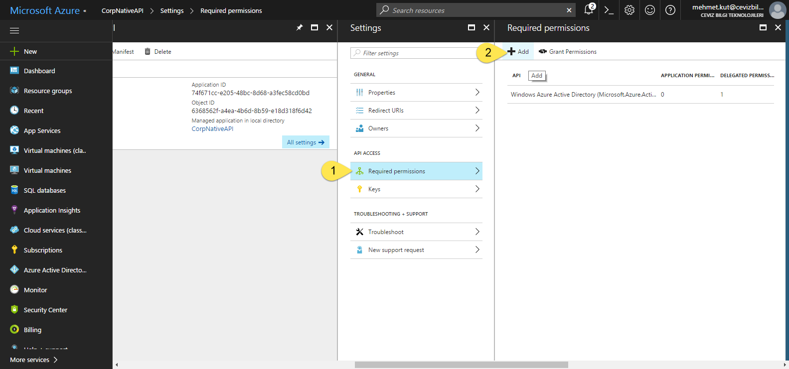 Protect ASP NET Core Web API resources with Azure Active Directory  · MK